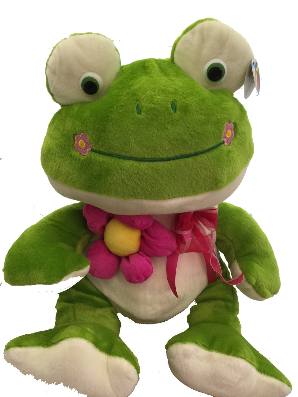 """Valentine's Large Love Lovey 18"""" Frog W Flower Large 18 Inch Plush Toy"""