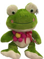 "Valentine's Large Love Lovey 18"" Frog W Flower Large 18 Inch Plush Toy"