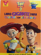 Toy Story Jumbo 64 pg. Spanish Coloring and Activity Book - Orange