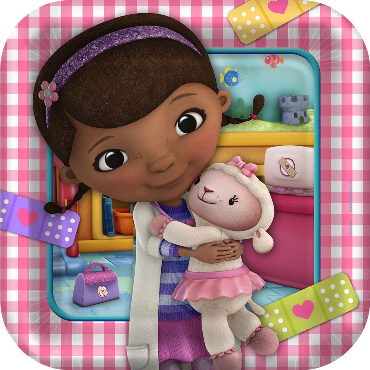 Doc McStuffins 9 Inch Large Square Lunch Dinner Plates