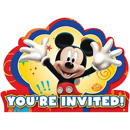 Mickey Mouse Pack of 8 Invitations