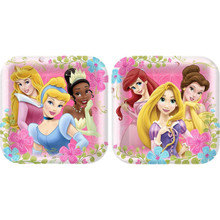 Princess Aurora Belle 9 Inch Large Square Lunch Dinner Plates