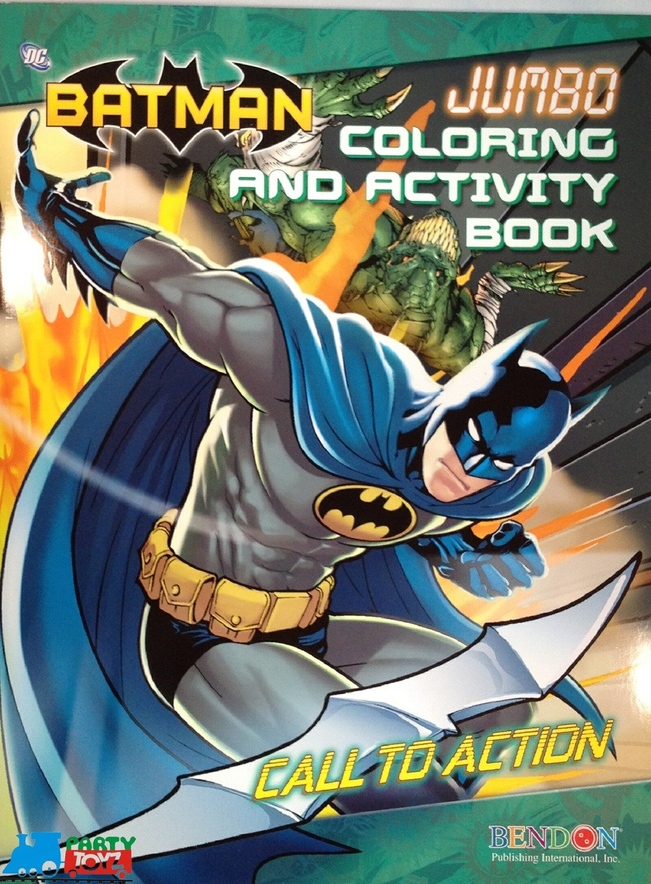 Batman Jumbo 64 pg. Coloring and Activity Book - Call To Action