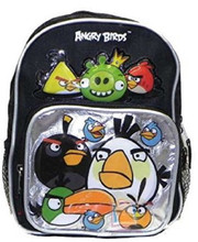 Angry Birds Silver/Black Toddler Backpack