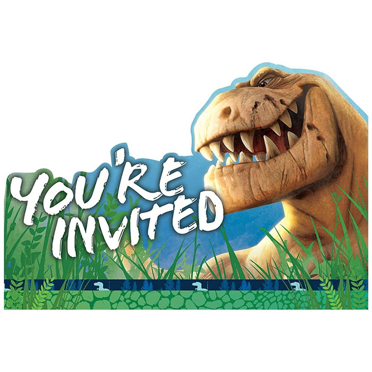 The Good Dinosaur Pack of 8 Invitations