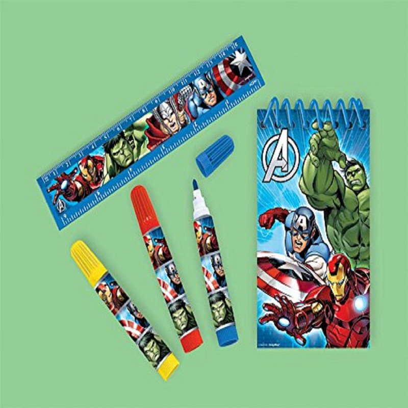 12X Avengers Assemble Stationary Set 5 PCS