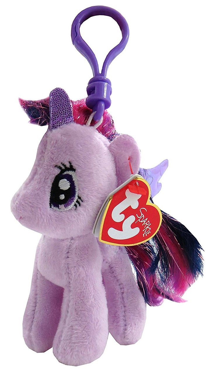 TY My Little Pony Beanie Babies Twilight Sparkle Key Chain Plush