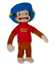 """Curious George Small 12"""" Plush Toy - with Hat"""