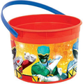 Power Rangers Dino Charge Plastic Favor Bucket Container ( 1pc )