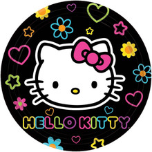 Hello Kitty Small 7 Inch Party Cake Dessert Plates - Tween