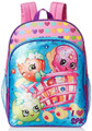 Shopkins Super Market 16 Inch Large Backpack Blue/Hearts