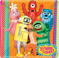 Yo Gabba Gabba Large 10 Inch Square Lunch Dinner Plates