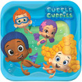 Bubble Guppies 9 Inch Large Square Lunch Dinner Plates