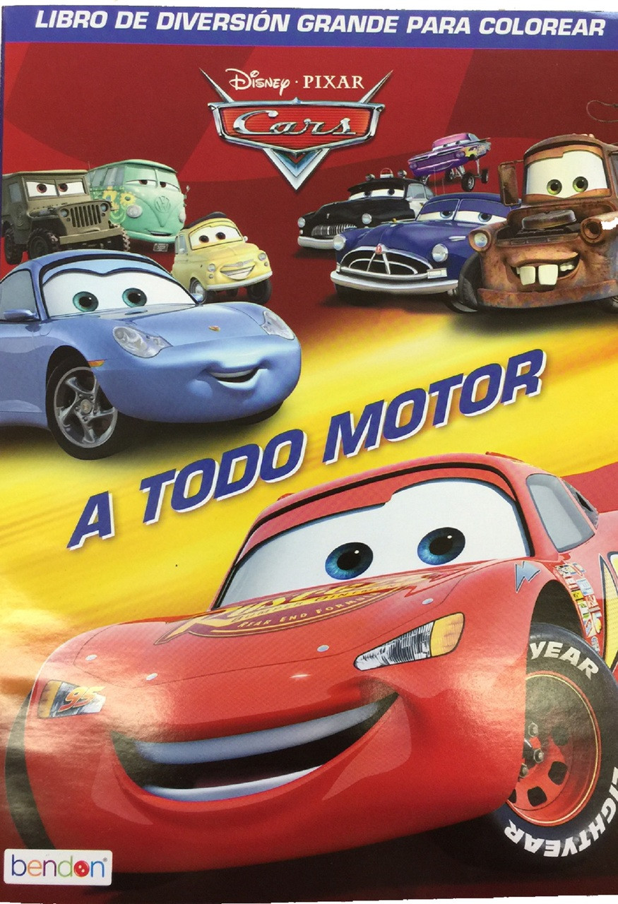 "Cars Spanish 96 pg. Coloring Book - ""A Todo Motor"""