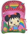 "Ni Hao Kai-Lan Large 16"" Cloth Backpack Book Bag Pack - Pink"
