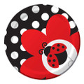 Ladybug 7 Inch Small Round Party Cake Dessert Plates
