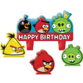 Angry Birds 4 Pc Molded Cake Candle Set