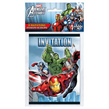 Avengers Assemble  Pack of 8 Invitations