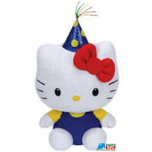 "Hello Kitty Ty Beanie Baby Small 6"" Plush Toy - Celebration"