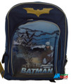 "Batman Large 16"" Cloth Backpack Book Bag Pack - Blue"