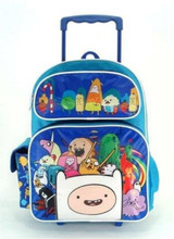 """Adventure Time Large 16"""" Rolling Backpack - Blue"""
