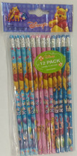 Winnie the Pooh & Friends Blue/Pink/Sky-blue Wooden Pencils Pack of 12