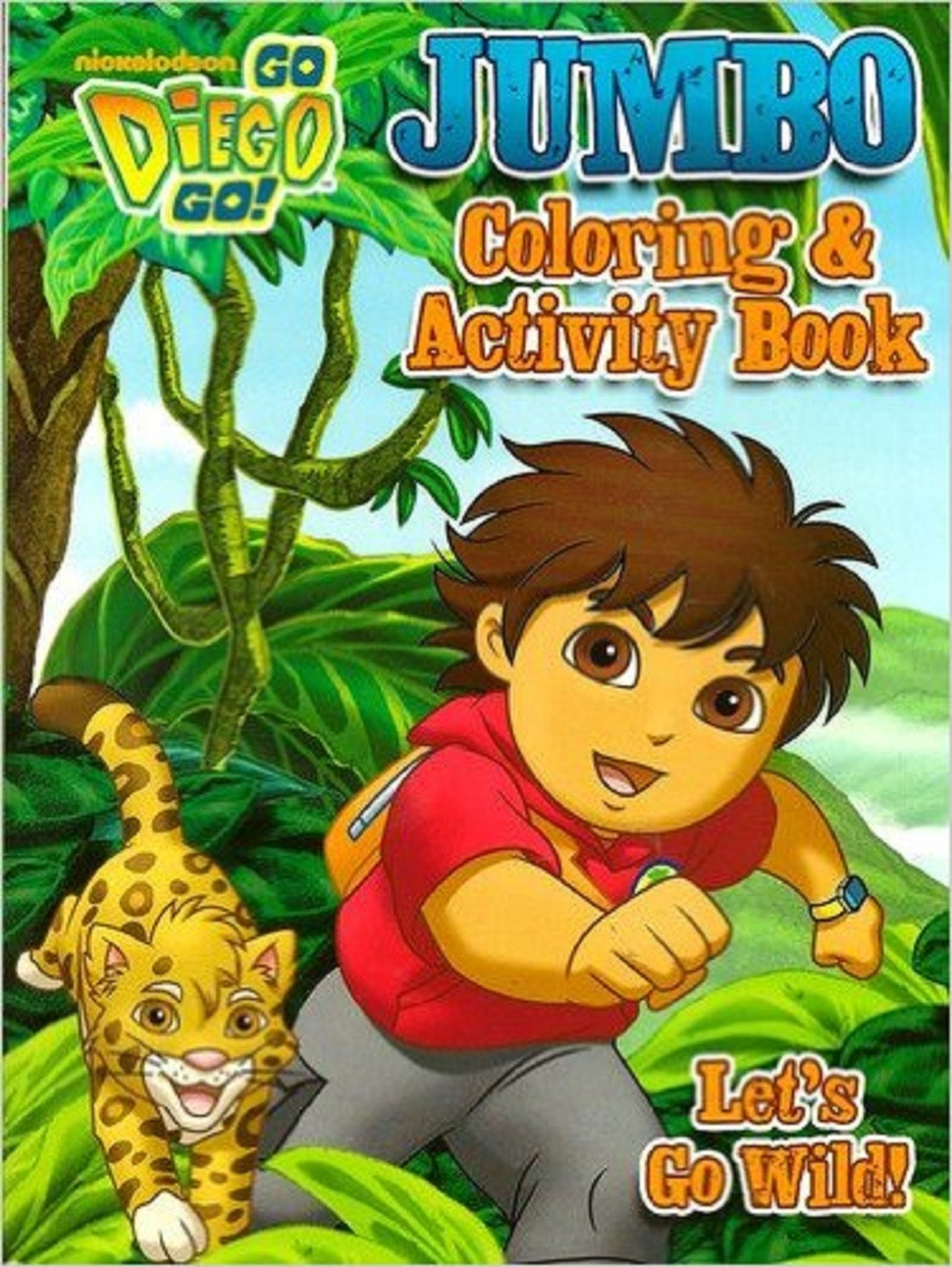 Diego Jumbo 96 pg. Coloring And Activity Book - Let's Go Wild!