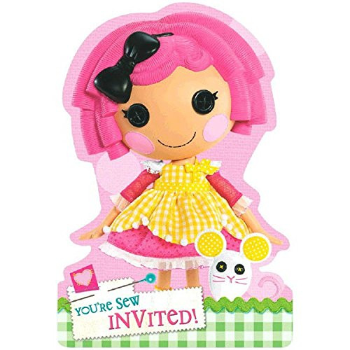 Lalaloopsy Pack of 8 Invitations  And Save the Date