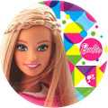 Barbie Sparkle 9 Inch Large Dinner Lunch Plates
