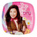 iCarly 8 Inch Large Square Pocket Lunch Dinner Plates