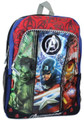 Avengers Black, Blue, Red Large Backpack - Captain America, Hulk, Ironman