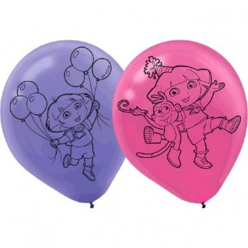 Dora the Explorer Pack of 6 Latex Rubber Balloons (Helium Quality)
