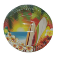 Hawaii Luau Tropical Surfing Party Small Round 7 Inch Party Cake Dessert Plates