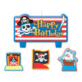 Pirates Treasure Molded 4 Piece Candle Set