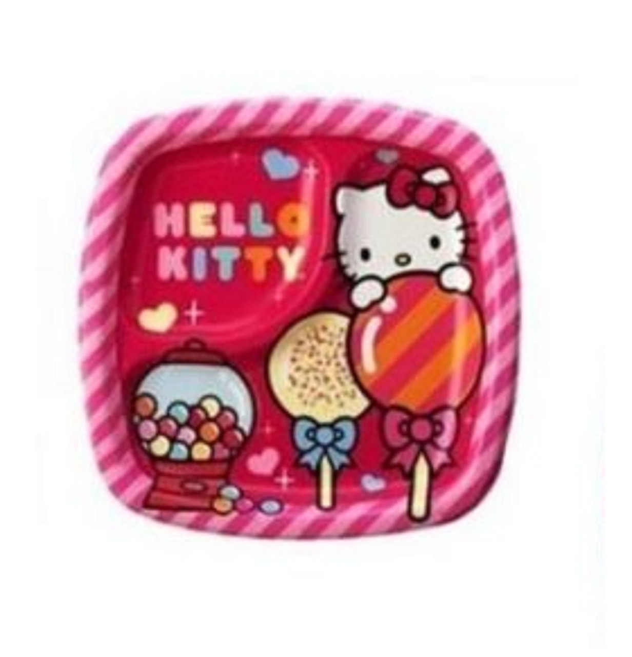Hello Kitty Small 7 Inch Party Cake Dessert Plates - Sweet