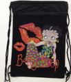 Drawstring Bag - Betty Boop Cloth String Bag Sack Cinch Pack - Style 3 Black