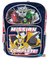 "Transformers Prime Large 16"" Cloth Backpack - ""Mission Complete"""