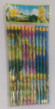 Tinkerbell Fairy Blue/Pink/Green Wooden Pencils Pack of 12