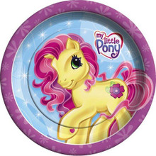 My Little Pony Large 9 Inch Round Lunch Dinner Plates - Blue