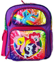 My Little Pony Small Cloth Toddler Backpack - Rainbow