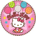 Hello Kitty Small 7 Inch Party Cake Dessert Plates - Balloon Dreams