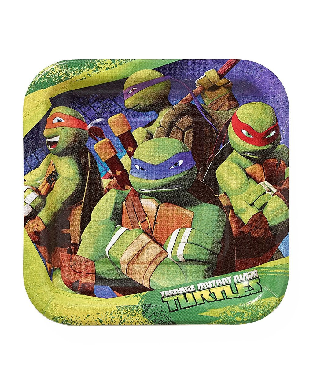 Teenage Mutant Ninja Turtles 7 Inch Small Square Party Cake Dessert Plates