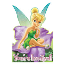 Tinkerbell Fairies Pack of 8 Invitations