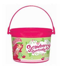 Strawberry Shortcake Plastic Favor Bucket Container ( 1pc )