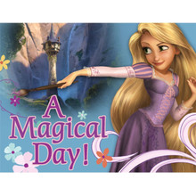 """Tangled Princess Rapunzel Invitations with Envelopes """"A Magical Day"""""""