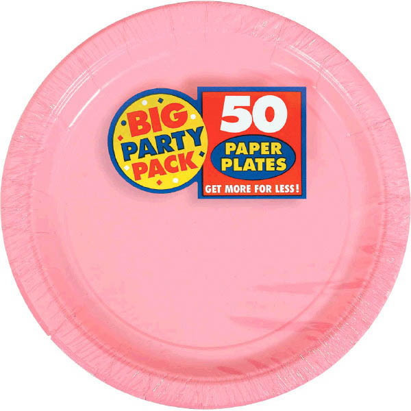 Big Party Pack Small 7 Inch Paper Plate - New Pink