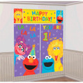 Sesame Street Giant Scene Setter Wall Decorating Kit - 1st Birthday