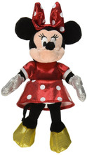 "Minnie Mouse TY's Beanie Baby Sparkle Small 9"" Plush Toy Stuffed Animal - Red"