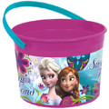 Frozen Ice Princess Plastic Favor Bucket Container ( 1pc )