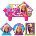 Barbie Sparkle Molded 4 Piece Candle Set